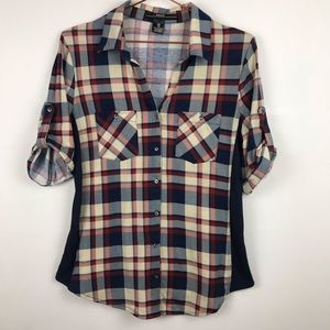 Amang NY Plaid Thermal Panel Roll Tab Flannel S